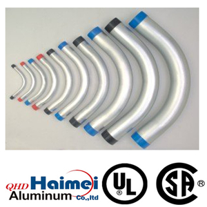 "1/2"" UL Approved rigid aluminum 90 degree elbow"