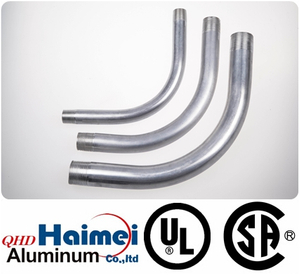 "3/4""UL Approved electrical rigid aluminum conduit elbows 90 degree"